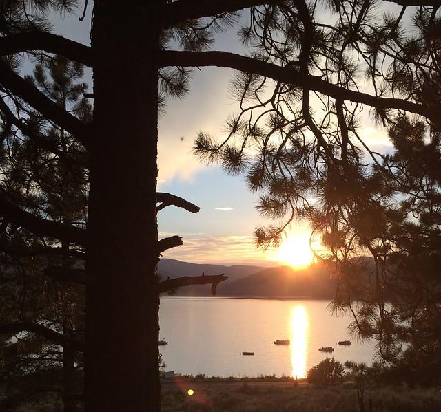 Sunset over Panguitch Lake