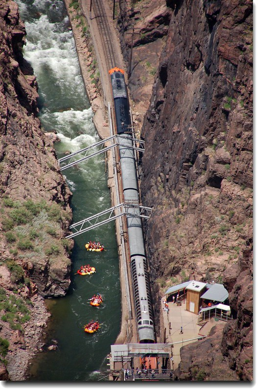 Royal Gorge Route Train along the Arkansas River 1