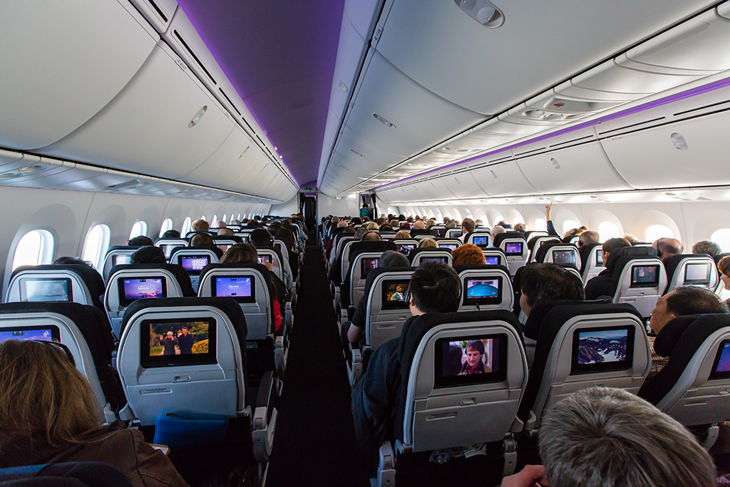 Air New Zealand Boeing 787-9 Economy Class cabin