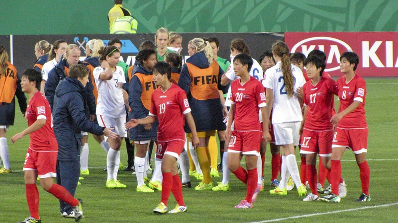 North Korea vs USA, U-20 Women's World Cup - Handshake