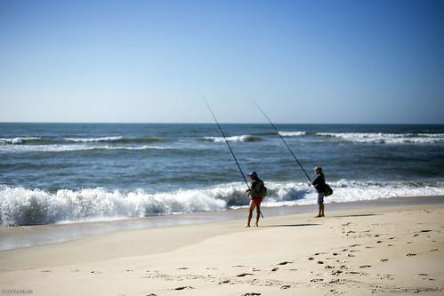 C'est avant tout une plage de pêcheurs sportifs.