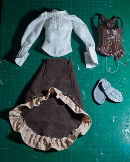 Blouse, skirt, corset WIP