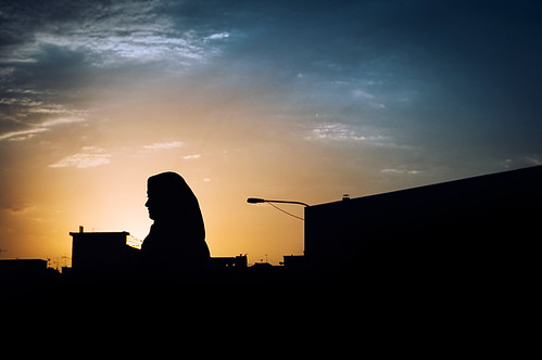 street sunset shadow woman iran dusk tehran tehranstreet