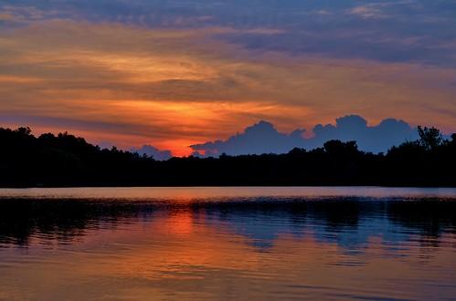 sunset lake ny newyork water clouds cloudy ryan upstate nys grennan westsandlake reichardslake rgrennan