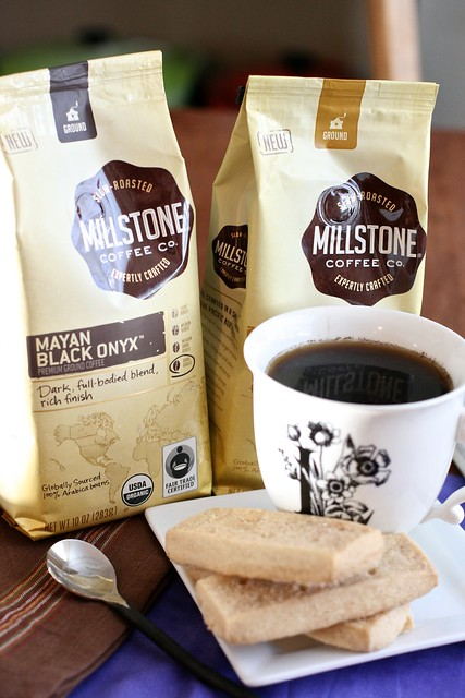 Maple Cinnamon Shortbread with Millstone Coffee