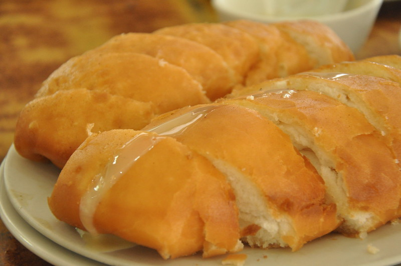 Fried Silver Rolls with Condensed Milk