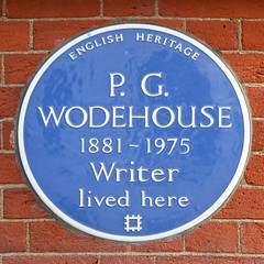 Photo of P. G. Wodehouse blue plaque