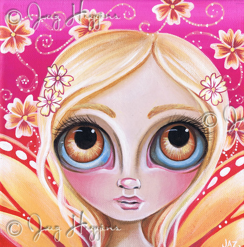 """Peachy Fae"" painting by Jaz Higgins"
