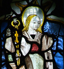 St Apollonia holds a tooth in pincers (15th Century)