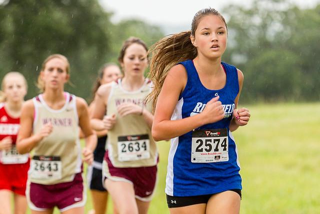 Henryetta Invitational cross country meet, varsity girls, N.10