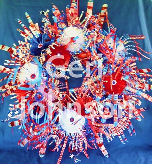 Recycled Water Bottle Patriotic Wreath 4