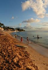 Holetown beach at sunset