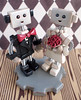 Robot Wedding Cake Topper touch of red