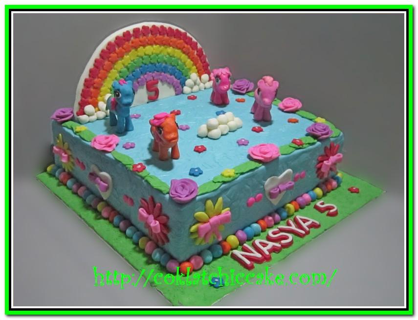 Kue Ulang Tahun Dengan Tema Cake My Little Pony Nasya