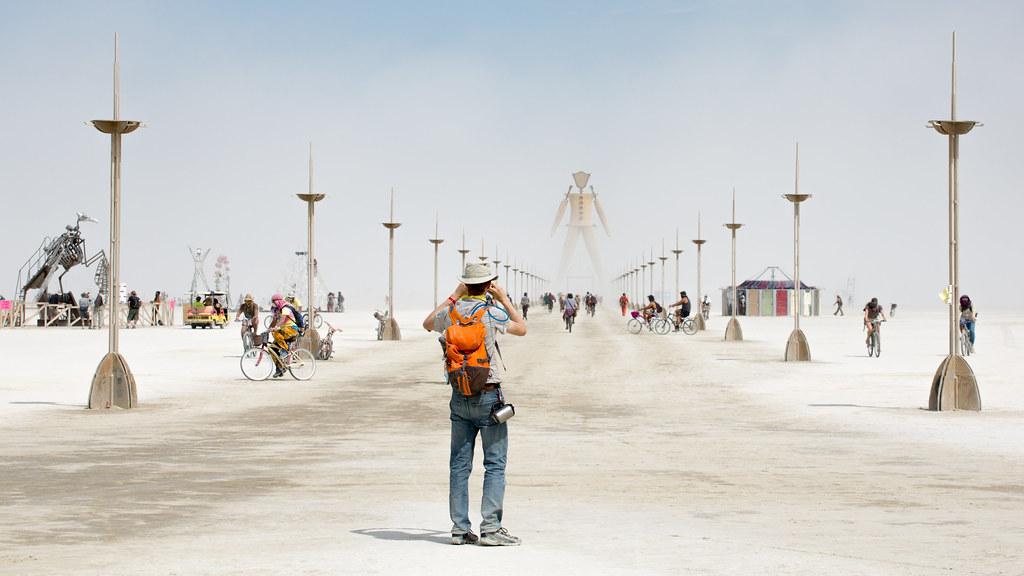 199 Man Photographs Man Photographing Man Burning Man 2014
