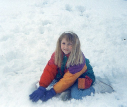 Brittny FLint-9 yrs old playing in the snow in Vilseck,Germany