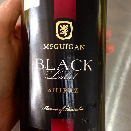 McGuigan Black Label Shiraz. Australian wine. Red wine. Wine.