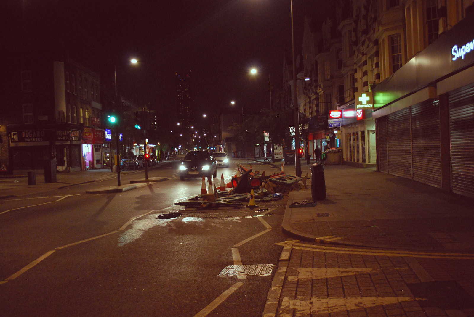 Night time in South London