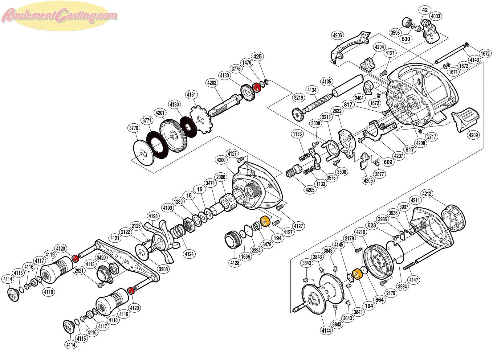 Schéma Shimano 11' CAENAN 101