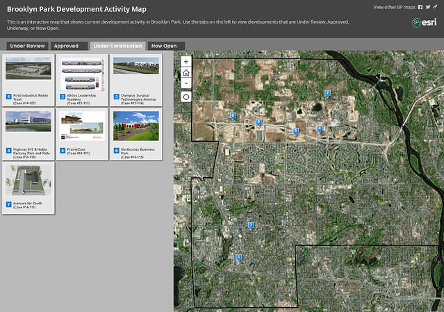 photo showing our development activity map in Brooklyn Park