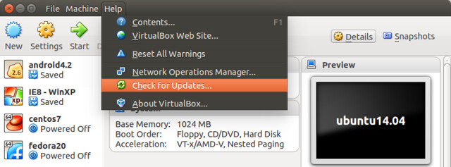 Updating virtualbox in ubuntu