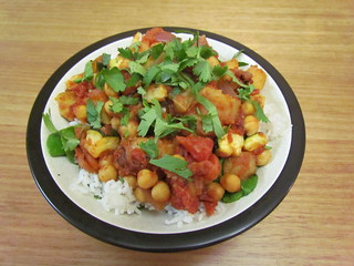Oven-Baked Indian Vegetables with Chickpeas