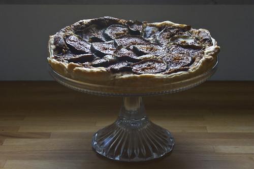 super quick fig tart