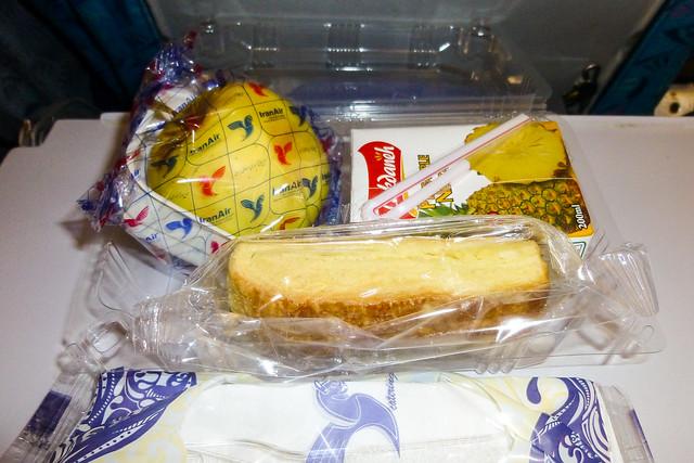Inflight meal of Iran Air イラン航空機内食(軽食)