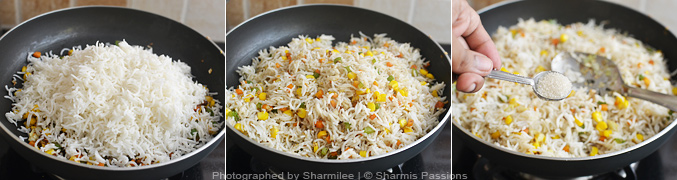Sweet corn fried rice recipe easy indian style fried rice how to make paneer fried rice step3 ccuart Image collections