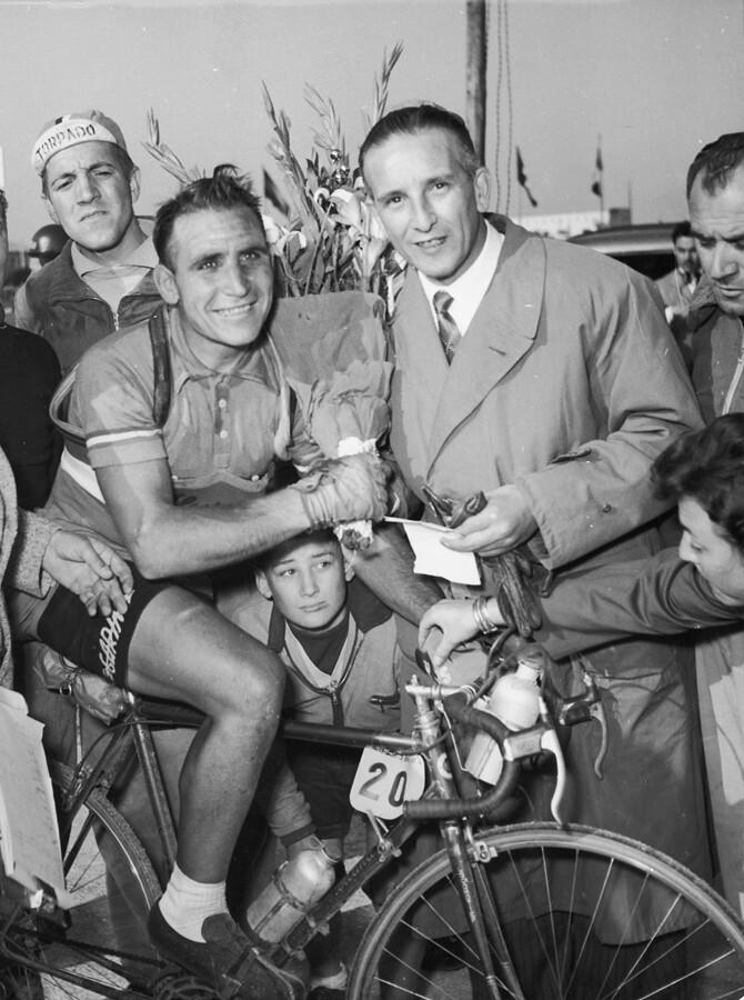 Wim Van Est (Giro '53) - foto della famiglia Marini-Boletti di Castiglione Stiviere (MN)