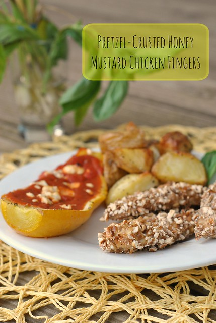 Pretzel-Crusted Honey Mustard Chicken Fingers 1