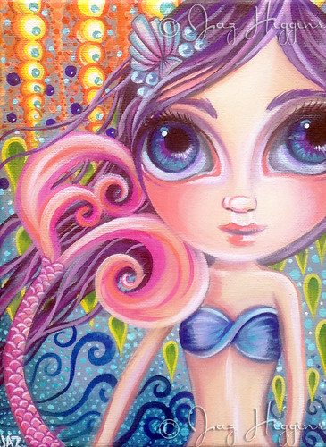 """A Splash of Colour"" Mermaid Painting by Jaz Higgins"