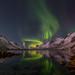 Aurora in the fjord by John A.Hemmingsen