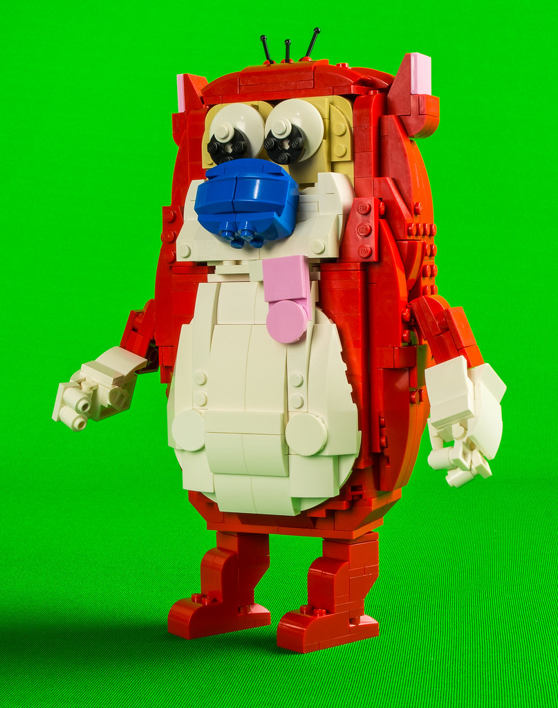 Stimpy (custom built Lego model)