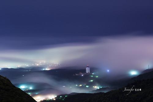 longexposure sunset mountain taiwan taipei 陽明山 yangmingshan 大屯山 雲海 陽明山國家公園 seaclouds nikond4 大屯雲海 nikkorafsvrii70200mmf28ged