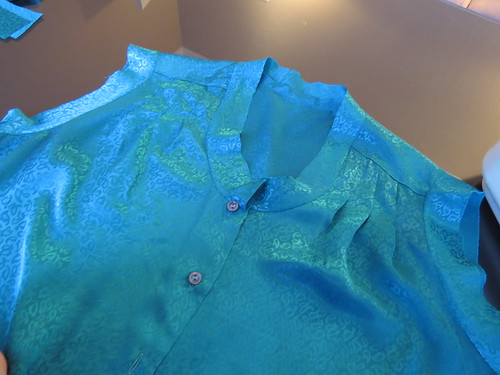 Teal Blouse - In Progress