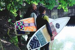 Surfers in München