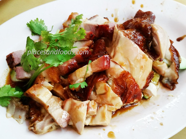 spring garden chicken and siew yuk