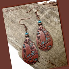 polymer clay Paris Graffiti Earrings