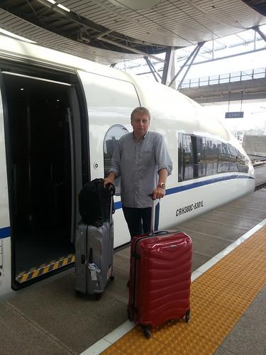 Taking the bullet train from Beijing to Shanghai