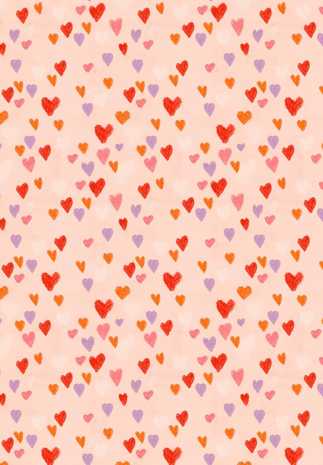 hearts pattern littler