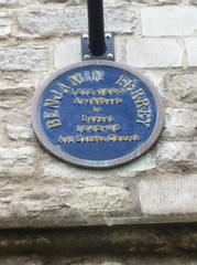 Photo of All Saints Church, Dorchester and Benjamin Ferrey blue plaque