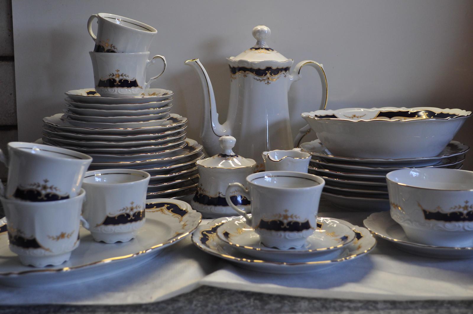 kaffee und essgeschirr 36 tlg k nig ludwig bavaria germany ebay. Black Bedroom Furniture Sets. Home Design Ideas