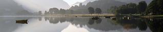 Sunrise&mirror image lake Padarn.
