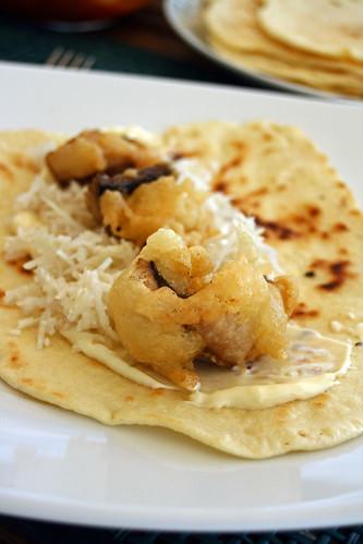 Tortillas maison aux beignets de maquereaux3