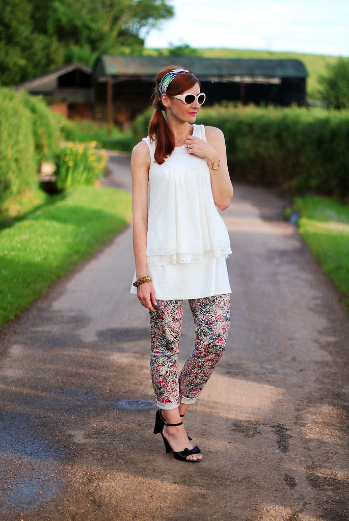 White summery layers with florals