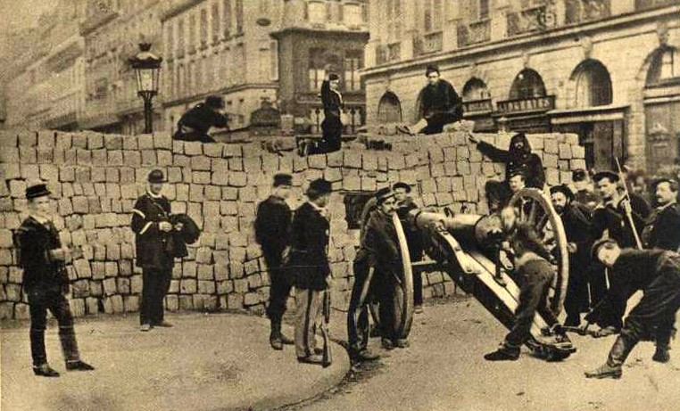 Paris - 1871. - barricade