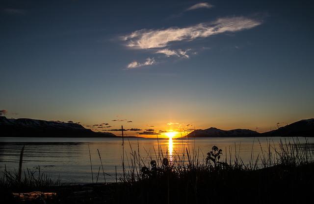 Eyjafjörður under  midnightsun