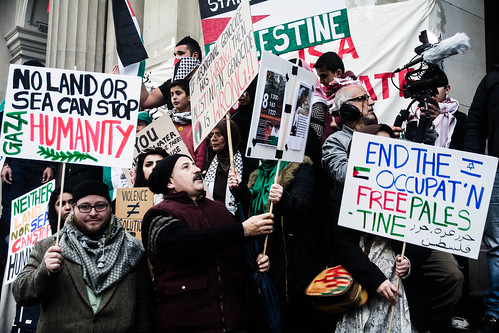 Palestine solidarity protest, Melbourne, July 12 2014