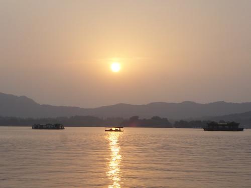 Zhejiang-Hangzhou-Lac Ouest-coucher du soleil 1 (6)